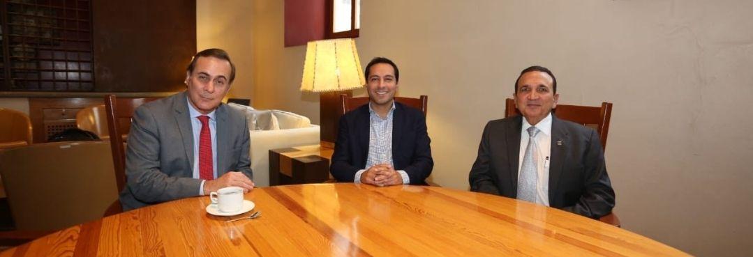 Se reúne Gobernador de Yucatán con dirigentes nacionales del sector empresarial