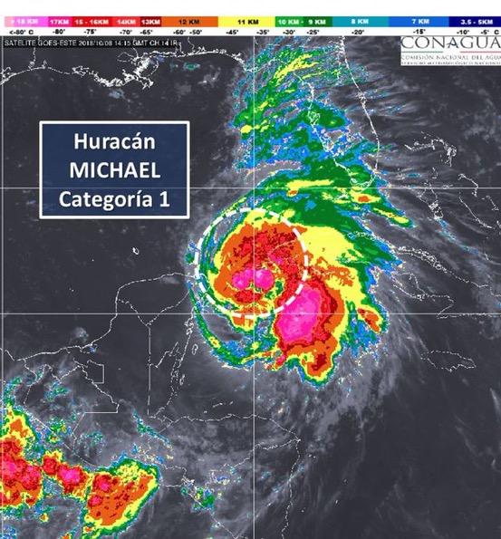 'Michael' ya es huracán; suspenden clases vespertinas en Quintana Roo