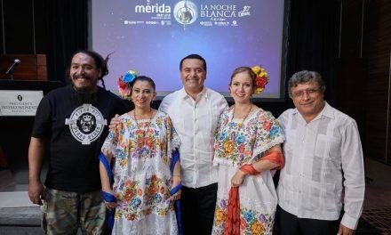 """Mérida invita con su """"Noche Blanca"""" al disfrute de arte y convivencia social"""