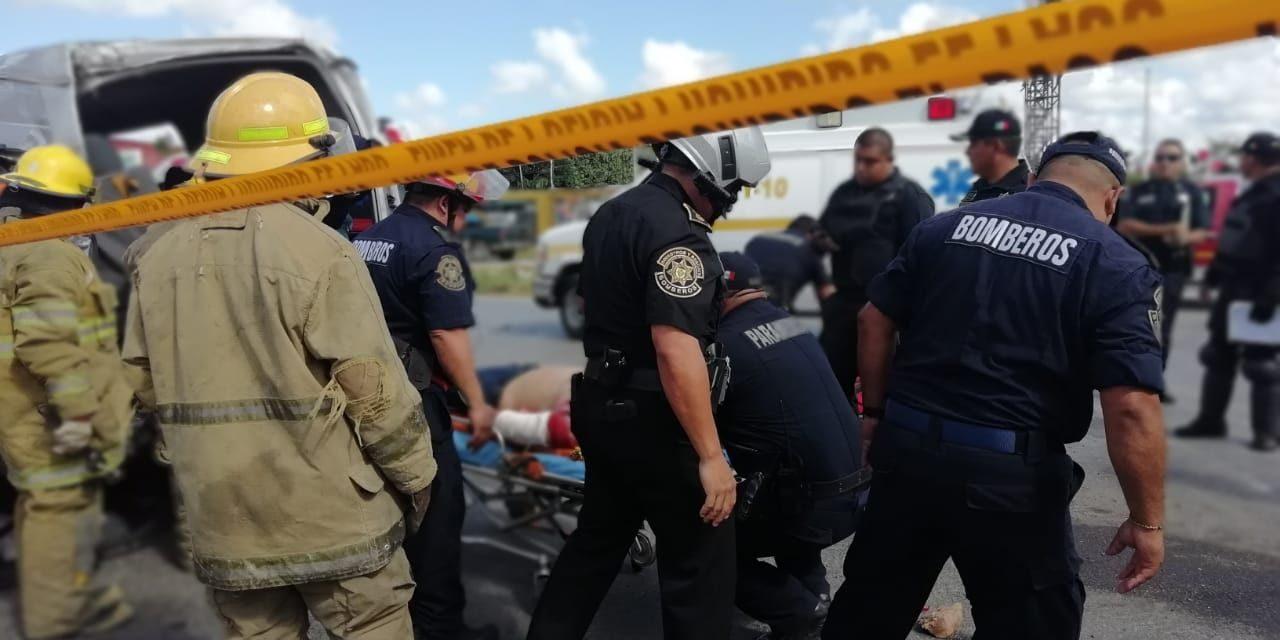 Triple colisión: 12 lesionados en la Mérida-Cancún