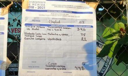 Vota 62% en elecciones de comisarías de Mérida