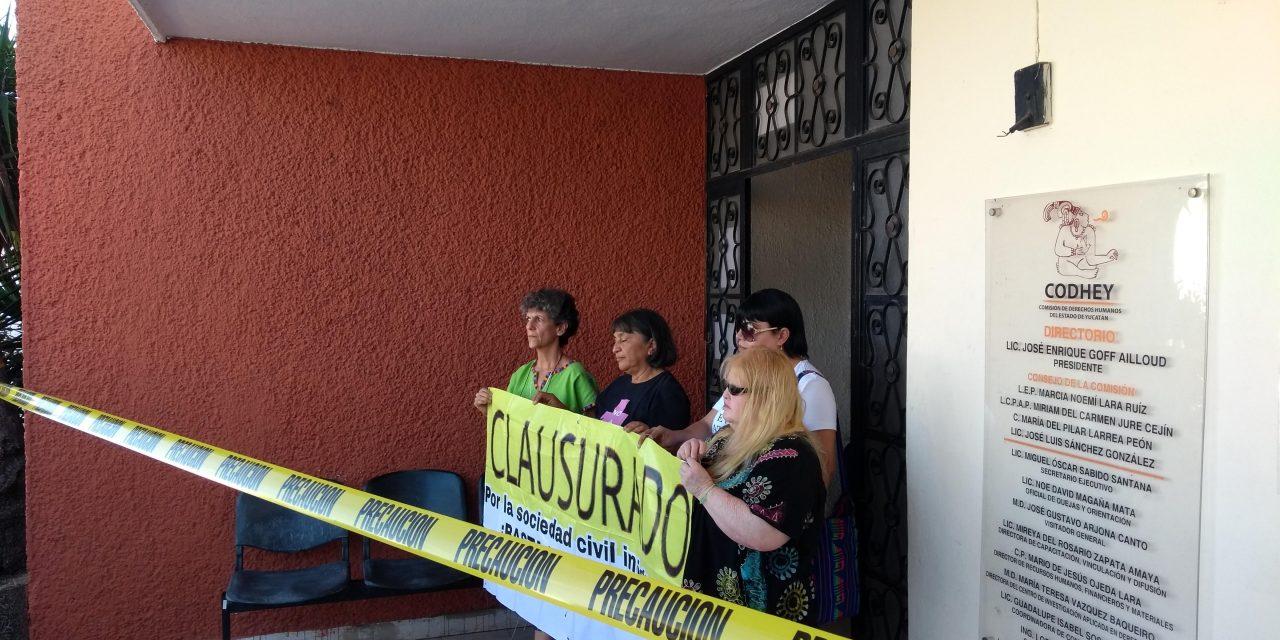 'Clausuran' oficinas de Comisión de Derechos Humanos de Yucatán (video)