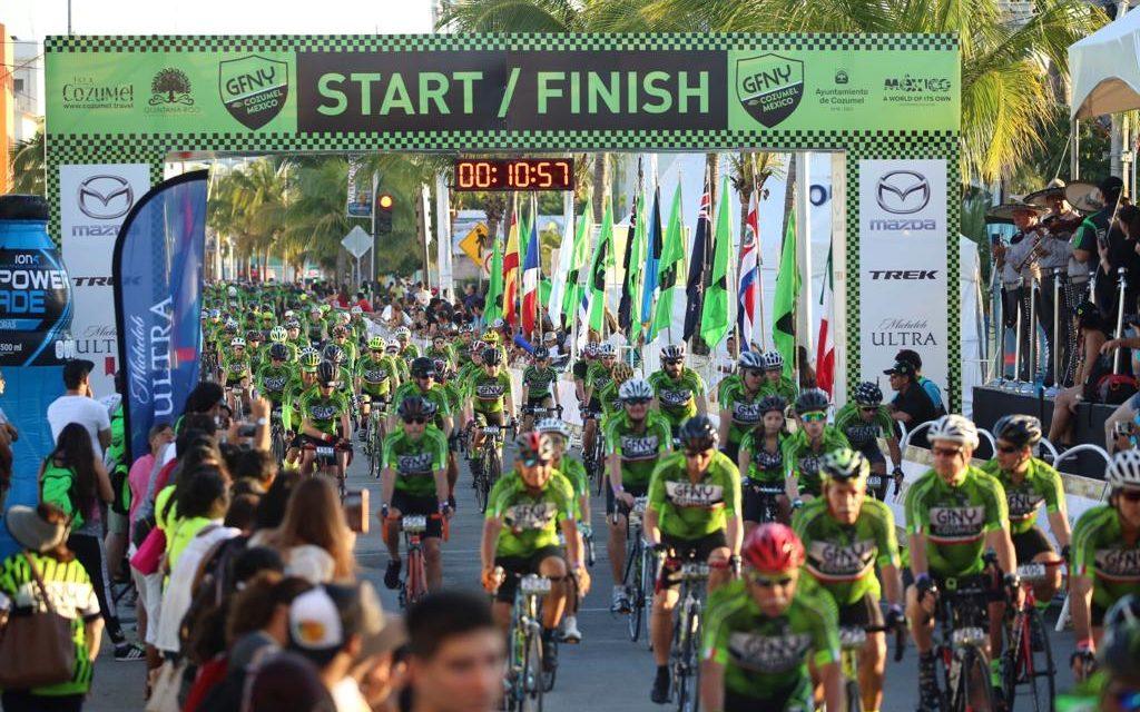 Ruedan en Cozumel ciclistas de 50 países