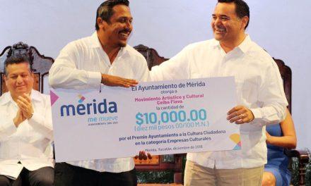 Alcalde Renán Barrera entrega Premio Cultura Ciudadana 2018