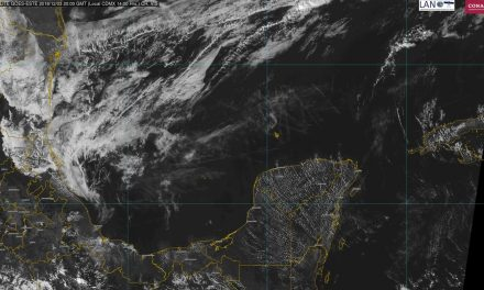 Débil frente frío llegará a Península de Yucatán este martes