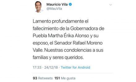Lamenta Vila muerte de los esposos Alonso y Moreno