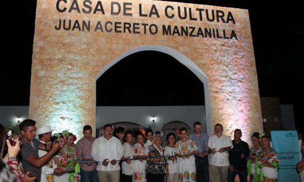 Con nuevo 'rostro' Casa de la Cultura de Dzilam de Bravo