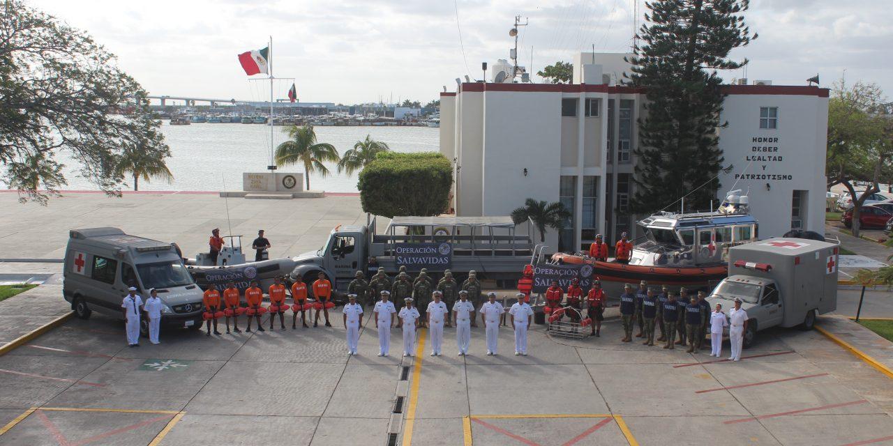 Activada en puertos yucatecos Operación Salvavidas Invierno 2018