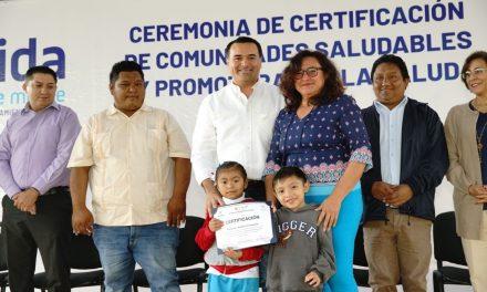 Certifican a Yaxnic y Dzununcán como Comunidades Saludables y Promotoras de la Salud