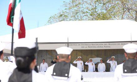 Vicealmirante Humberto Lanz Gutiérrez toma mando de IX Zona Naval en Yucatán