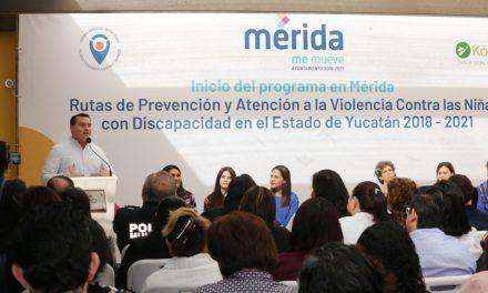 Ayuntamiento de Mérida, contra violencia a niñas con discapacidad