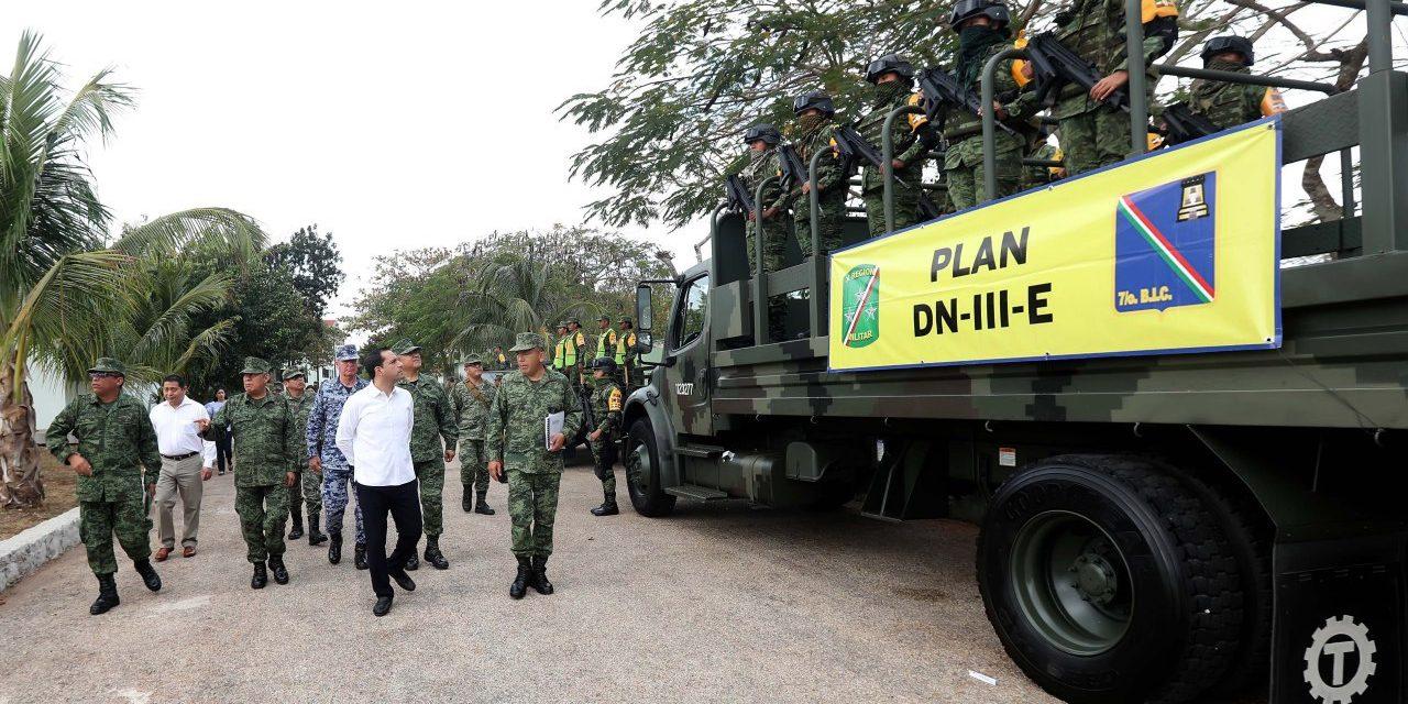Refrendan colaboración y coordinación fuerzas armadas y Gobierno de Yucatán
