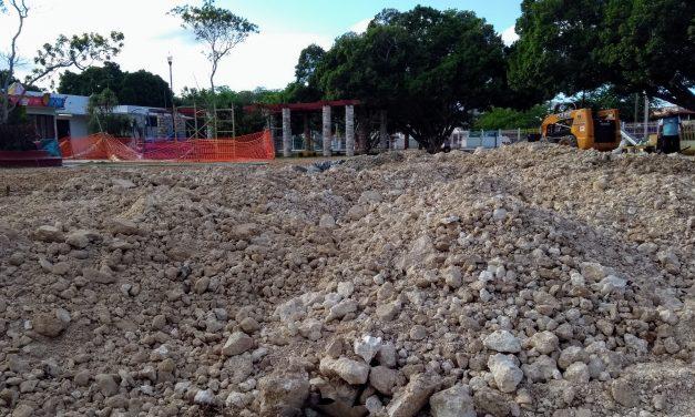 ¿Qué le hacen al área infantil al parque Las Américas? ¡Eliminan areneros! (fotos y video)