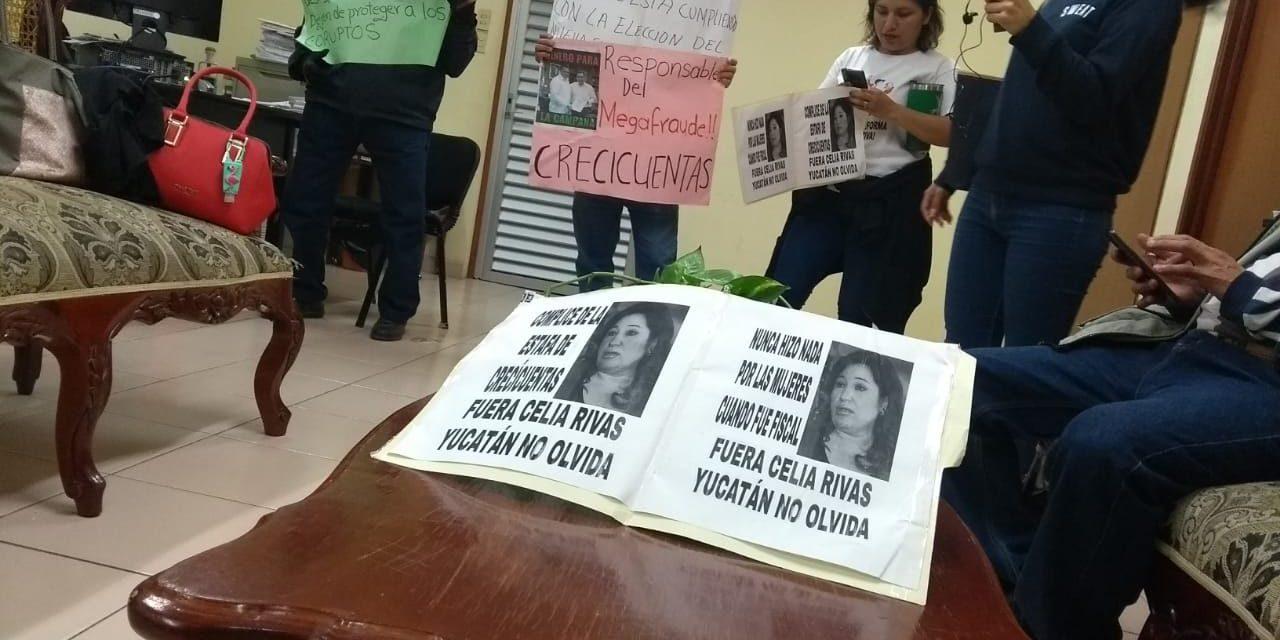 Protestan por falta de justicia a fraude en 2012