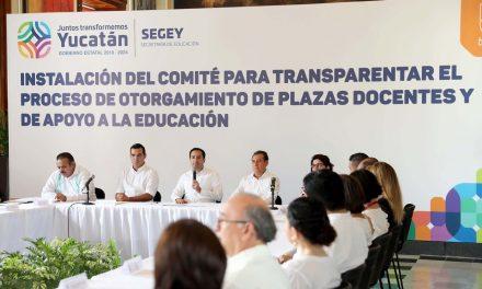 A transparencia evaluación y plazas docentes en Segey