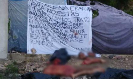 """En vía pública de Cancún, descuartizado con """"narcomanta"""""""