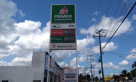 En Mérida, litro de gasolina subió por lo menos 1.80 pesos en todo 2018
