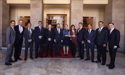 Vila y gobernadores, en aniversario de la Constitución Mexicana