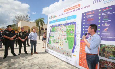 Plaza Carnaval, renovada y mejorada, lista para la fiesta de Mérida