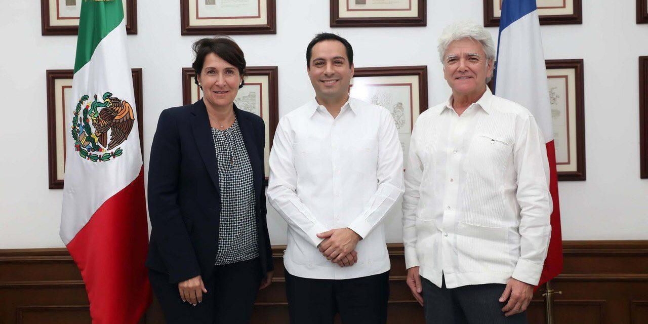 Refuerzan cooperación Francia y Yucatán