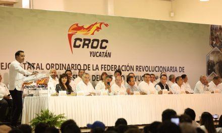 En Congreso estatal de CROC, presumen 'estabilidad' en Yucatán