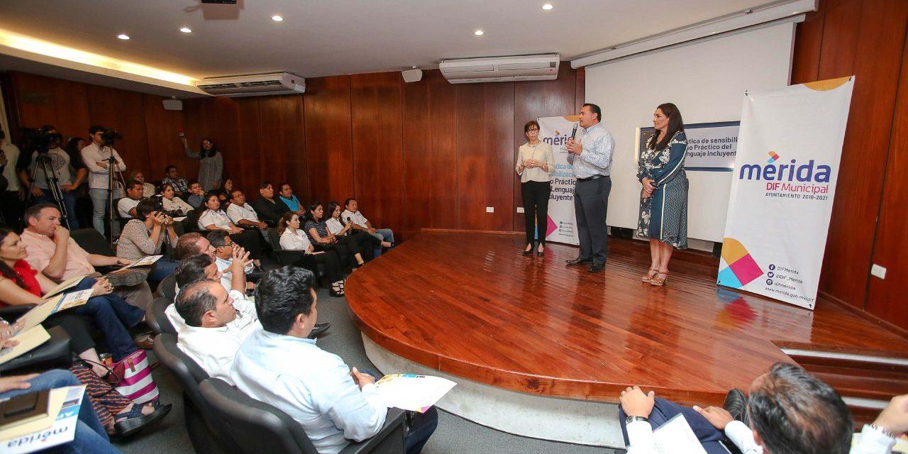 """Adopta Ayuntamiento de Mérida 'sensibilización al lenguaje inclusivo"""""""