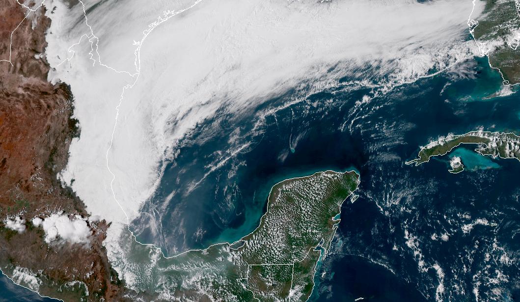 En camino frente frío con 'soplo fresco' para Península de Yucatán