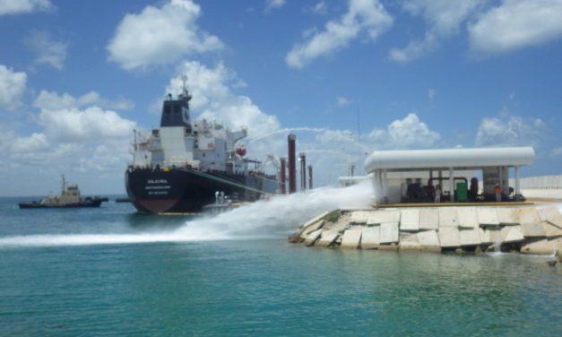 Ejercicio de protección de Armada de México este jueves en puerto Progreso