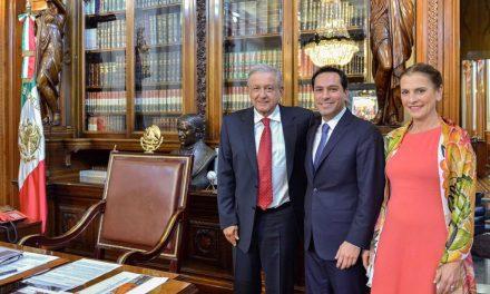 Vila y López Obrador revisan proyectos para Yucatán