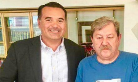 Renán Barrera se reúne con Paco Ignacio Taibo II por recursos