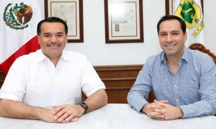 Vila y Renán revisan agenda conjunta en Declaración por Mérida 2050