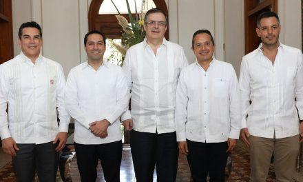 Cónclave de gobernadores Sur-Sureste con canciller Marcelo Ebrard