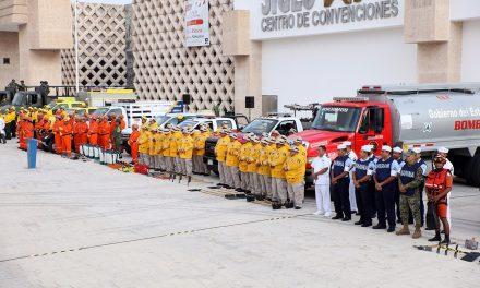 Así presentaron las brigadas de prevención y combate contra incendios