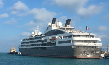 Yucatán da la bienvenida al barco Le Boreal de la naviera Ponant
