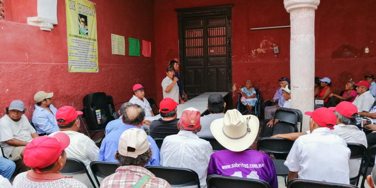 Ejidatarios de Motul piden unidad ante despojos de tierras