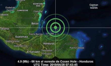Sismo en mar de Honduras 'despertó' al sur de Quintana Roo