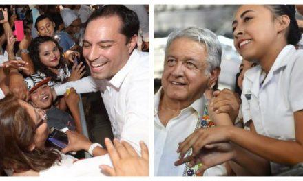'Cosecha' Yucatán de la buena relación Vila-AMLO