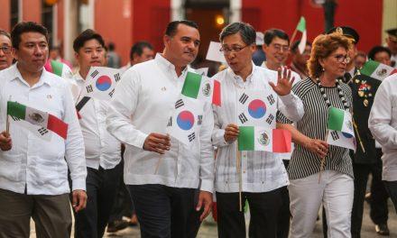 Celebran Mérida y Corea historia que los une (Vídeo)