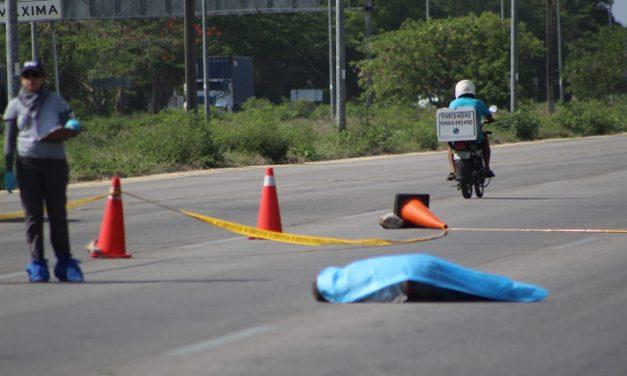 Humilde ciclista arrollado y muerto en la carretera Progreso-Mérida