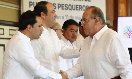 Presenta Vila paquete de inversiones para puertos yucatecos