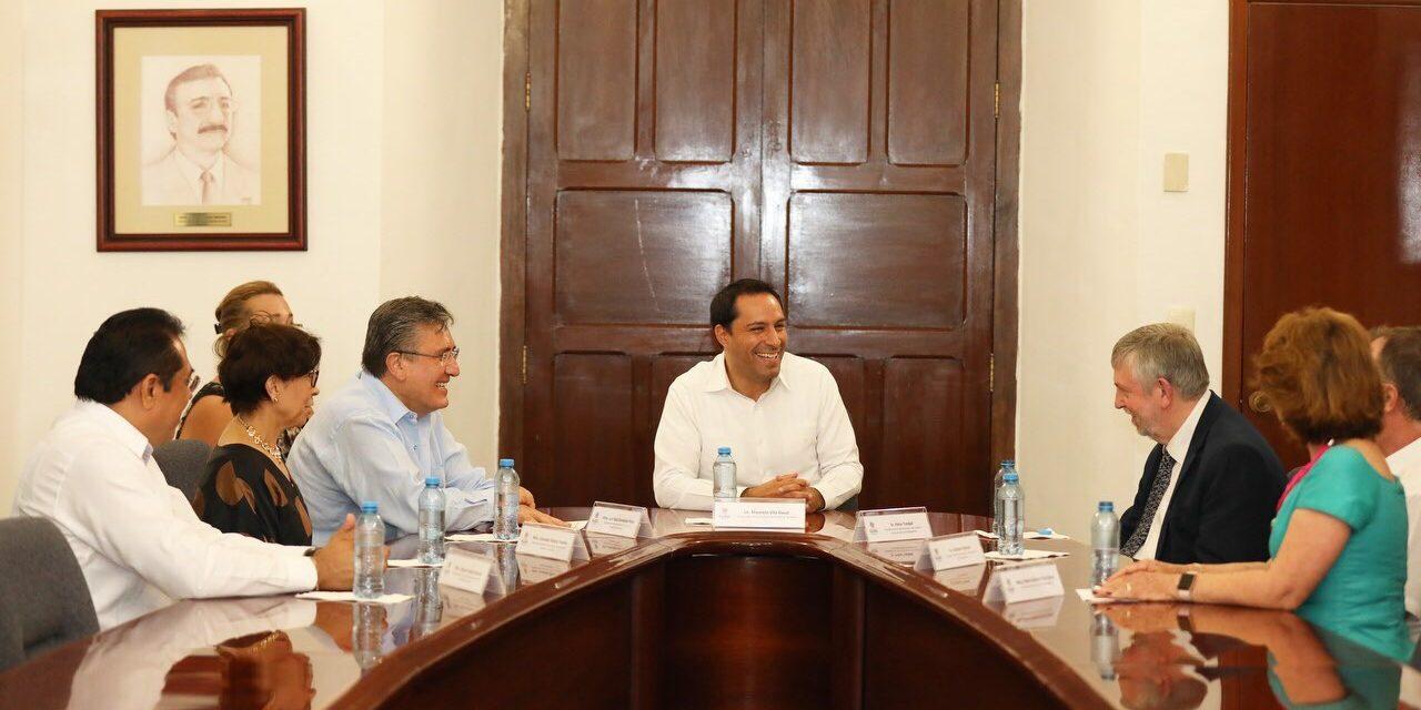 Mauricio Vila se reúne con presidente de Comisión Nacional de Derechos Humanos