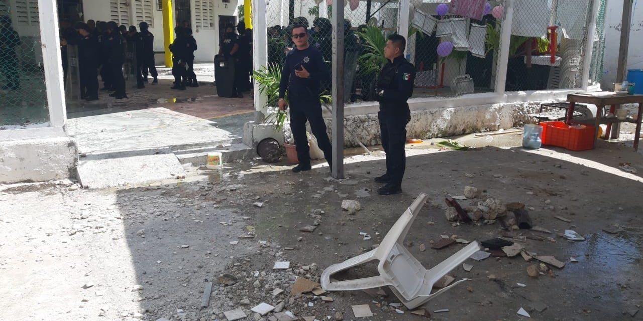 Enfrentamiento en penal de Cancún deja lesionados