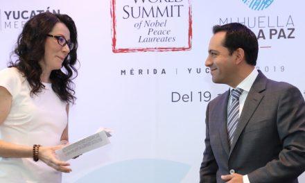 En Mérida, 21 premios Nobel de la paz en Cumbre de septiembre