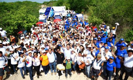Voluntarios de Reto #BasuraChallenge, en Reserva Cuxtal