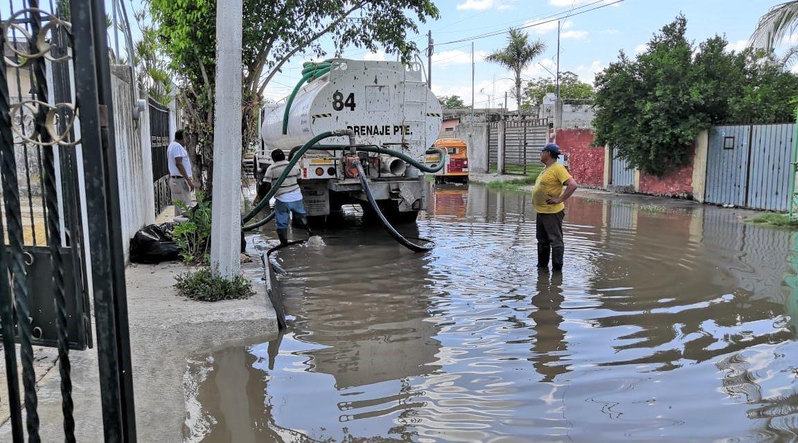 Lluvias en Mérida: desagüe de 360 mil litros en el municipio, el miércoles