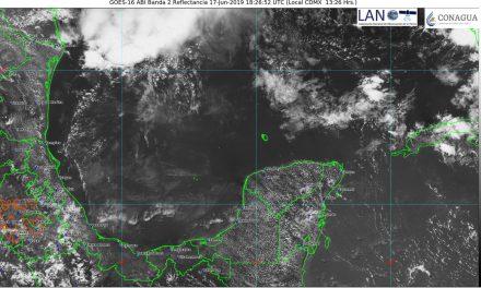 De vuelta los 39 y 40 grados en Península de Yucatán, con chubascos vespertinos