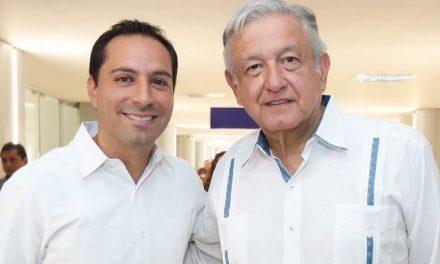Gobernador Vila Dosal recibe al presidente López Obrador en tercera visita a Yucatán
