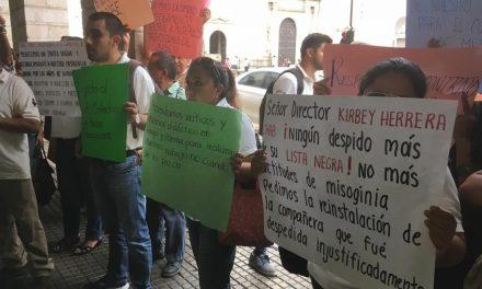 Inconformidad de sindicalistas en IEAEY