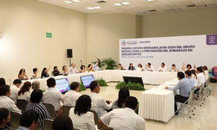 Cuenta Yucatán con Grupo Estatal para la Prevención del Embarazo en Adolescentes
