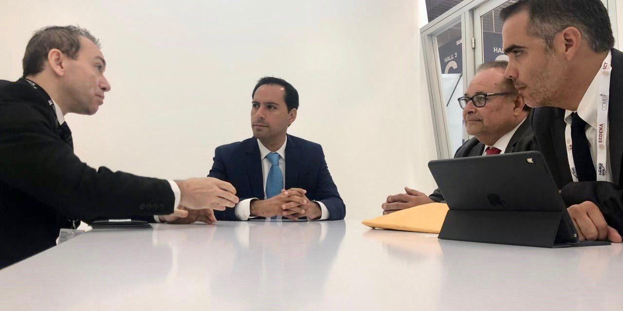 Empresa israelí IAI y la italiana Aviointeriors interesadas en las ventajas de Yucatán